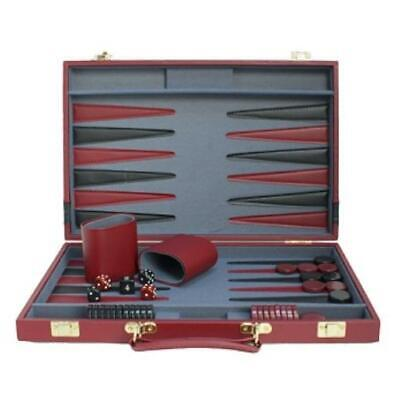 Wood Expressions Boardgame Backgammon Red/Black Box MINT