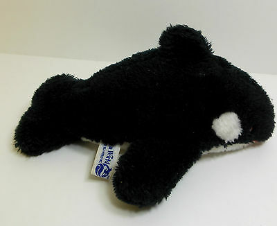 "Vintage Shamu Sea World San Diego 1980 Orca Killer Whale 9"" Plush"