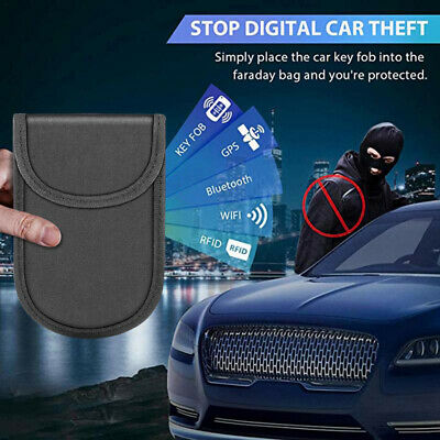 Faraday Car Key Signal Blocker Case Pouch Fob Keyless RFID Blocking Bag Wallet