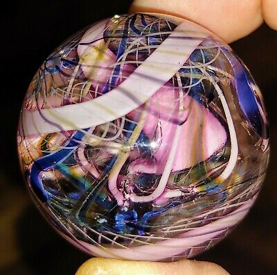 Contemporary glass marble murrine swirl handmade art glass marble Crisanti Glass