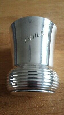 Antique French Silver plated Beaker - Art Deco