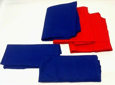 QUALITY Craft Felt Red & Blue Fabric Material Art Sewing Festive Decorations NEW