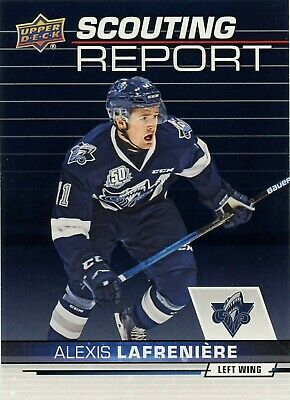 Alexis Lafreniere 2018-2019 Ud Upper Deck Chl Scouting Report Insert Card