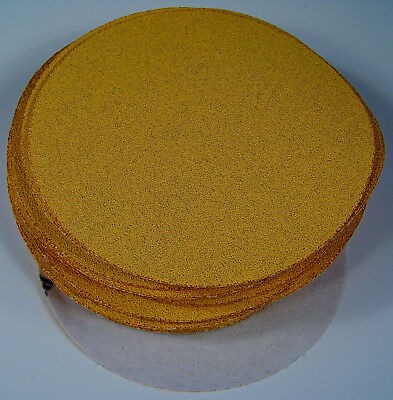 "50pc 80 Grit 6"" HOOK and LOOP Premium Gold Line SANDING DISCS Sandpaper USA new"