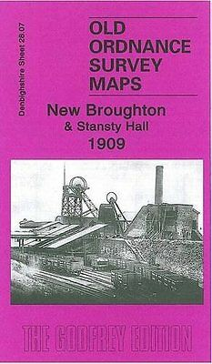 Old Ordnance Survey Map New Broughton & Stansty Hall 1909
