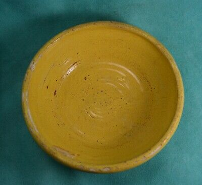 Yellow Ware Bowl   USA Stoneware  Crockery Primitive farmhouse