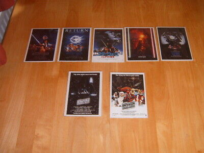 7 diff. Topps 1995 Widevision Star Wars Mini Posters ROTj & Empire Strikes Back