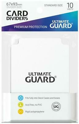Ultimate Guard Deck Box 67mm x 93mm Card Dividers - White (10) MINT