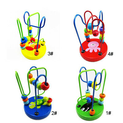 Wood Educational Game Toy Beads Animal Intelligence Children Baby Brand New Hot