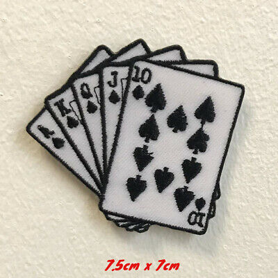 Casino Poker Card art badge clothes Embroidered Iron on Sew on Patch