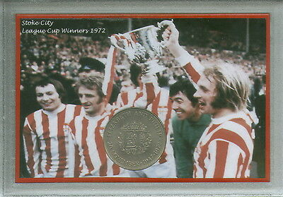 Stoke City The Potters Vintage League Cup Final Winners Retro Coin Gift Set 1972