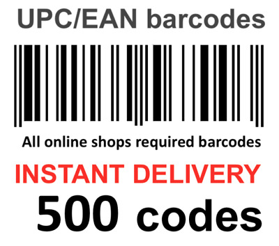 500 Codes Barcodes EAN13 UPC Barcode Code Amazon bar code codes with photo