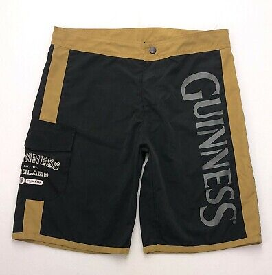 322ec2e6a1 C357 Guinness Beer Polyester Swim Trunks Board Shorts Tag sz 34 (Mea 35x10.5