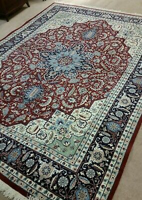 10x14 HAND Made KNOTTED PERSIAN RUG WOOL ANTIQUE Style Great Design & Colors