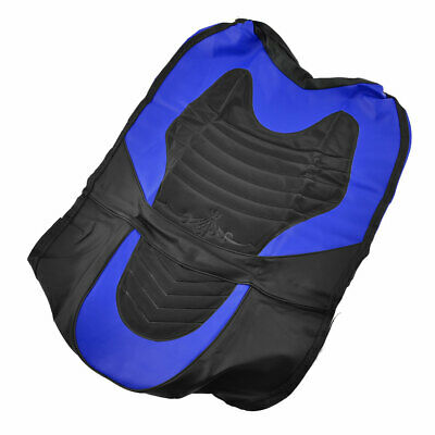 Motorbike Faux Leather Insulation Seat Cushion Cover Black Blue for Suzuki