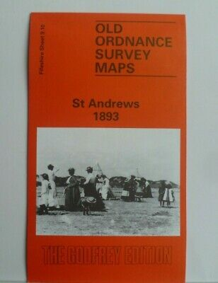 OLD ORDNANCE SURVEY MAPS ST ANDREWS FIFESHIRE SCOTLAND 1893 Godfrey Edition New