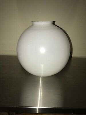 Vintage White Milk Glass Frosted Round Globe Lamp Shade Ceiling Fixture