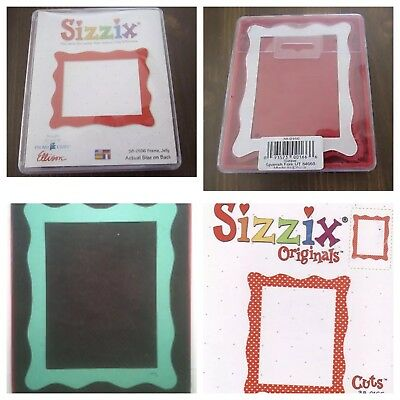 Sizzix Die Jelly Frame Craft DieCut Original Scrapbook Photo Retired Scrapbook