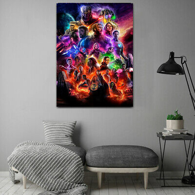 Avengers 4 End Game  Movie Poster Canvas 20X30 Glossy Photo Paper 24X36