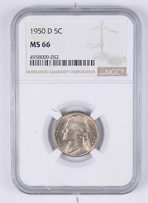 KEY DATE MS-66 1950-D Jefferson Nickel - Tough - Denver Minted - NGC Graded *969