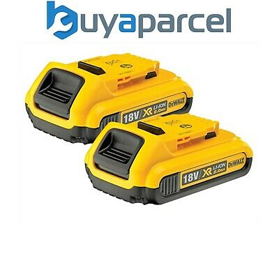Dewalt DCB183 XR 18v Lithium Ion Battery Twin Pack Li-Ion 2.0Ah DEWDCB183