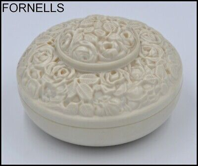 Rare Vintage Art Deco French Signed E.fornells Bakelite Box With Floral Designs