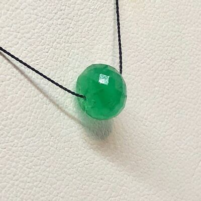 30cts Natural Emerald 7.5x5.5mm Faceted Roundel Bead 10715I