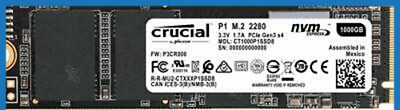 500GB Crucial P1 SSD M.2 PCIe NVME NAND Internal Solid State Drive 2000MB/s