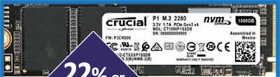 Crucial 500GB P1 SSD M.2 PCIe NVME NAND Internal Solid State Drive 2000MB/s NEW