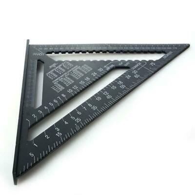 Square Carpenter's Measuring Ruler Layout Tool Triangle Angle Protractor 12inch