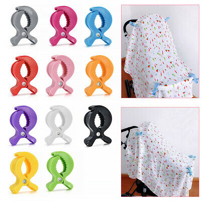 Strong Baby Car Seat Toy Lamp Pram Stroller Peg To Hook Cover Blanket Clips