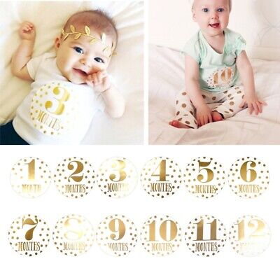 Baby Pregnant Women Monthly Photograph Sticker Fun1-12 Month Milestone Stickers