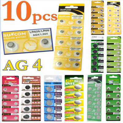Lot of 1.55V AG4 AG3 AG10 AG13 CR2016 CR2032 3V Watch Button Coin Cell Battery