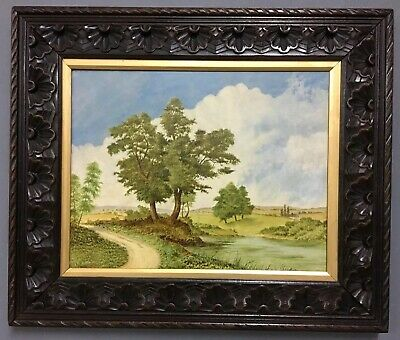 Antique Victorian English School Oil On Board Painting, Signed