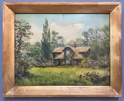 Antique Victorian English School Oil On Board Painting