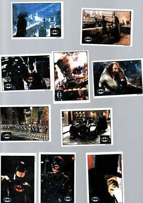 Batman Returns Set Of Sticker Cards Numbers 1-10 Ex Mint Condition