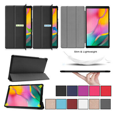 """For Samsung Galaxy Tab A 10.1""""  2019 T510/T515 PU Leather Folio Case Cover Stand"""