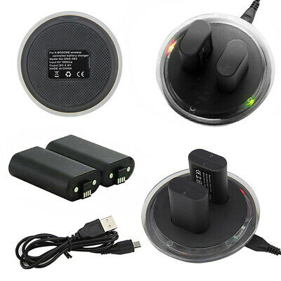 XBOX ONE Dual Charging Dock Station Charger w/ 2 Rechargeable Battery #k5