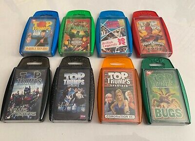 ACE TRUMPS Card//Game//Toy//Gift//Travel {fixed UK p/&p} 9 Pack Range
