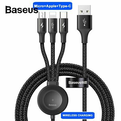 Baesus 4-in-1 Multi USB Charging Cable Cord + Wireless Charger for Apple Watch