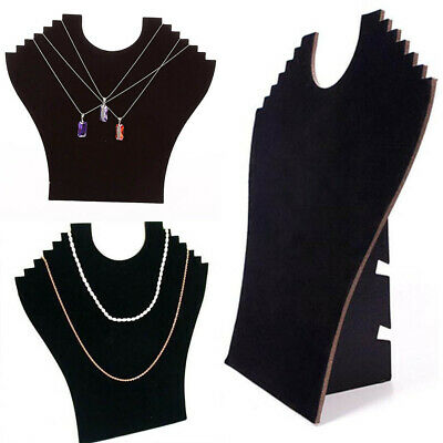 1Pc Necklace Velvet Jewelry Display Holder For Pendant Chain Stand Easel Black