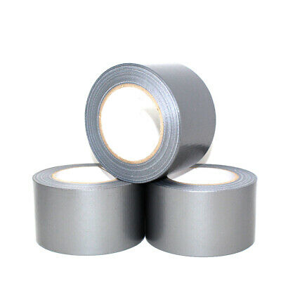 50 METERS x 75mm SILVER GAFFER CLOTH DUCK DUCT TAPE GAFFA WATERPROOF INSULATION