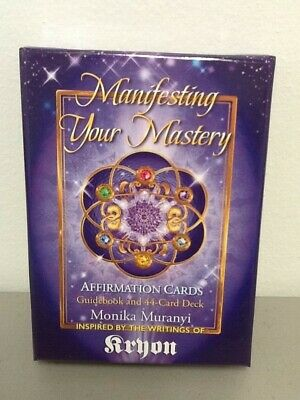 Manifesting Your Mastery, Affirmation Cards by M. Muranyi, 44 cards, NO Guideboo