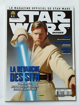 Magazine Officiel Panini Star Wars Insider N°3 Cover 1/2 2015 Revanche Des Sith