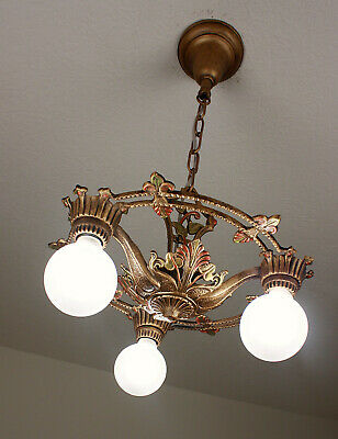 20's Antique Vintage ART DECO Ceiling Light CHANDELIER SET AVAILABLE