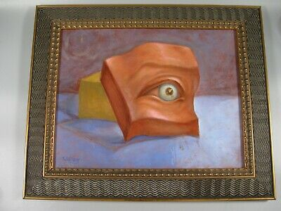 William Rumsey Abstract Oil on Canvas Signed Framed