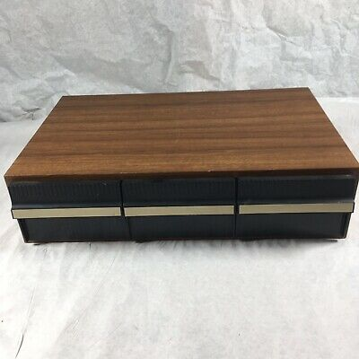 Music Cassette Wooden Storage Box-3 Drawer Unit-Holds 36 Cassettes-