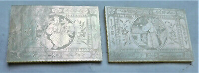 NO RESV Mother Of Pearl Chinese Gaming Counters Tokens Chips MOP Vintage Antique