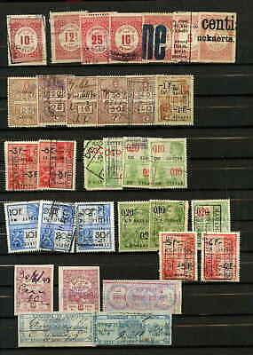 Belgium 32 Revenue Stamps Collection Lot Wide Variety $$$$$$$