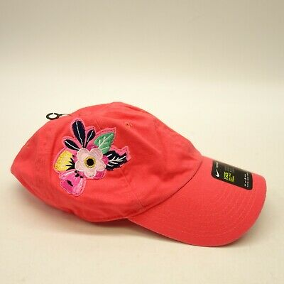8193935e Nike Womens One Size Fits All Red Logo Dad Futura H86 Rose Flower Concert  Hat